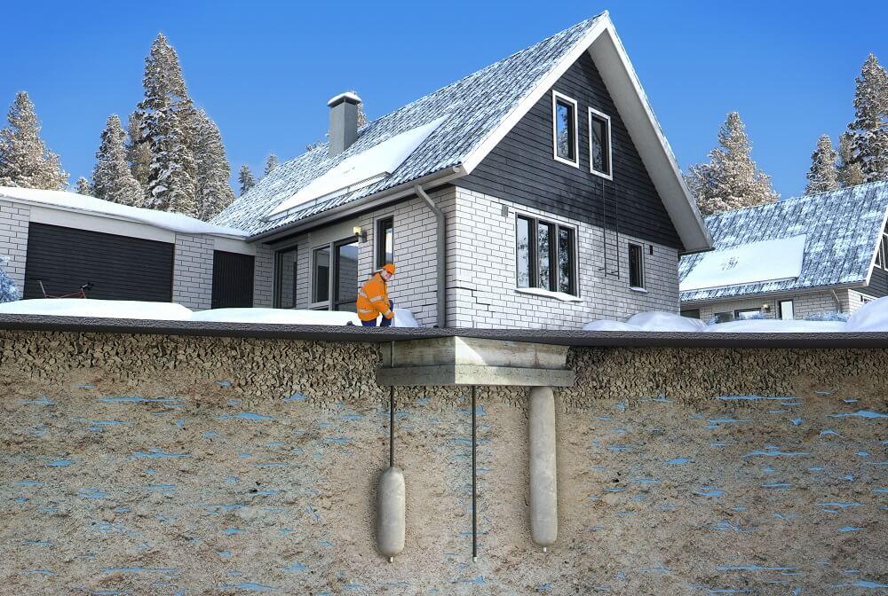 Geobear-lösning villa vinter